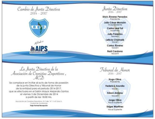 invitacion ACD
