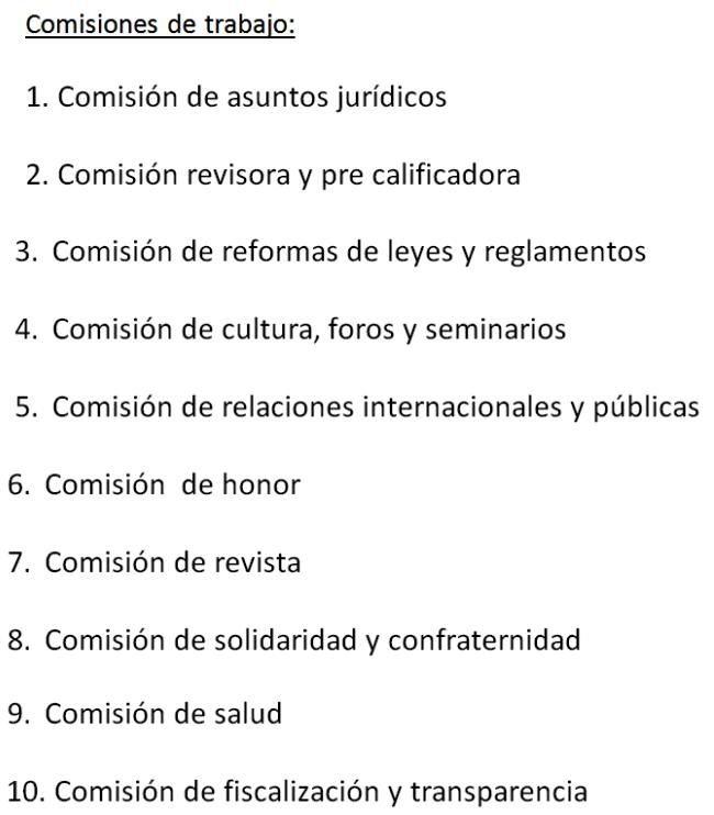 COMISIONES DE TRABAJO IPSP 2015