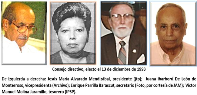 CONSEJO DIRECTIVO ELECTO EL13 DE DICIEMBREDE 1990