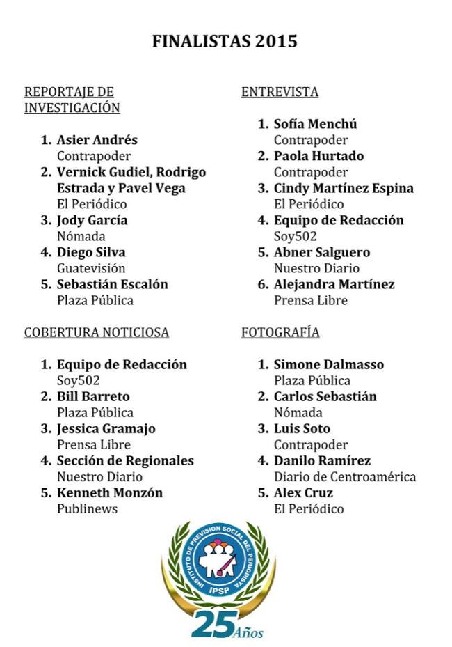 IPSP RESULTADOS PREMIO NAC 2015