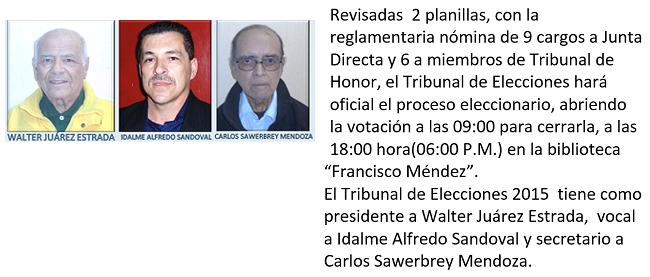 Tribunal de elecciones 2015 con texto