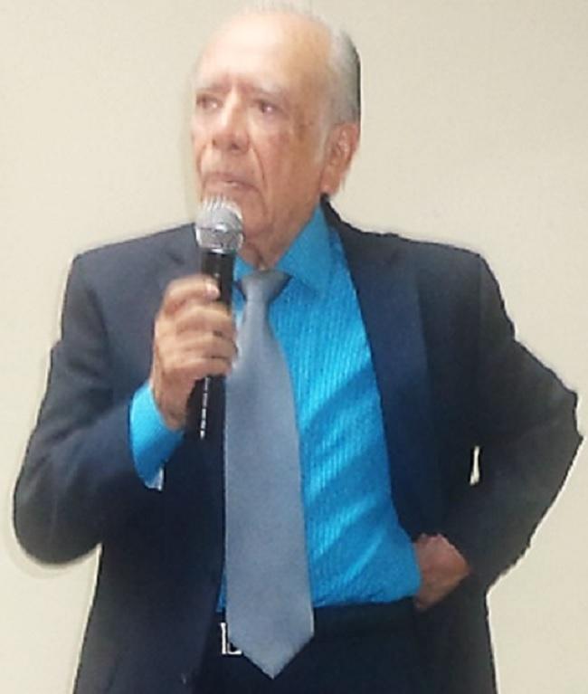 Luis Morales Chúa, afiliado 37, durante su intervención (Foto, por Julio Trejo Pineda) a