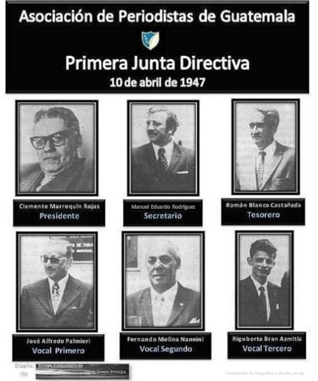 APG PRIMERA JUNTA DIRECTIVA -EN 1947 FUNDACIÓN 10 DE ABRIL