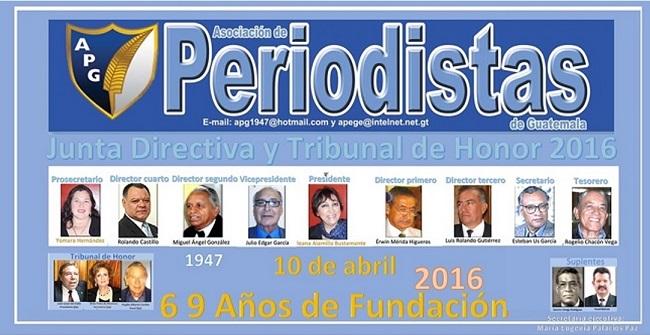 DIRECTIVA Y TRIBUNAL DE HONOR 2016 -15 DE ENERO- 2017 DISEÑOJTP