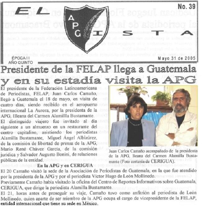 APG ILEANA - JUAN CARLOS CAMA.....HO FELAP 1976 -U -2005