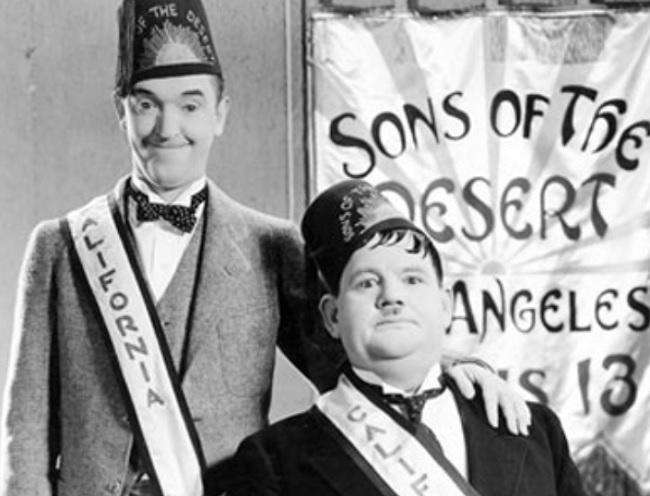 Stan Laurel (i) y Oliver Hardy (Fuente: Internet)