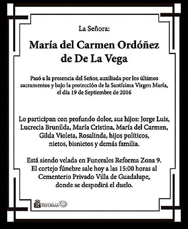 Tomado de Obituarios, de Prensa Libre