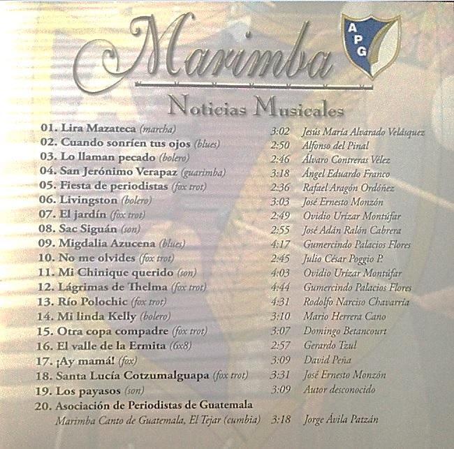 20 MELODIAS MARIMBA APG